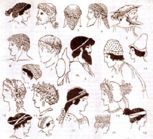 Прическа Древнего Востока. Античная Греция