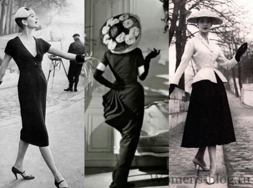 Нью-лук стиль в одежде история. Стиль New Look 1947 года, Кристиан Диор.