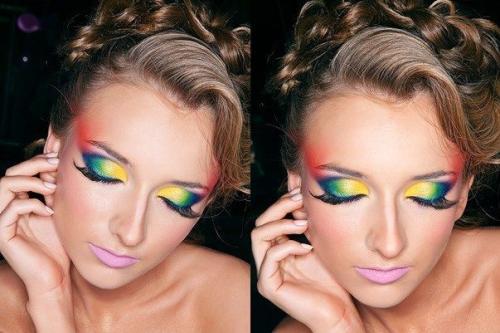 Авангардный макияж описание. Авангардный макияж