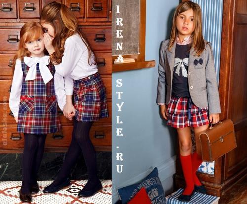 Как модно одеваться в школу 2019. Модная школьная форма для девочек в клеточку 2019-2019 фото новинки