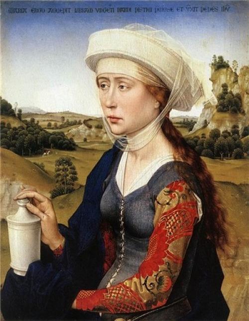 Прически в готическом стиле средневековье. Западная Европа