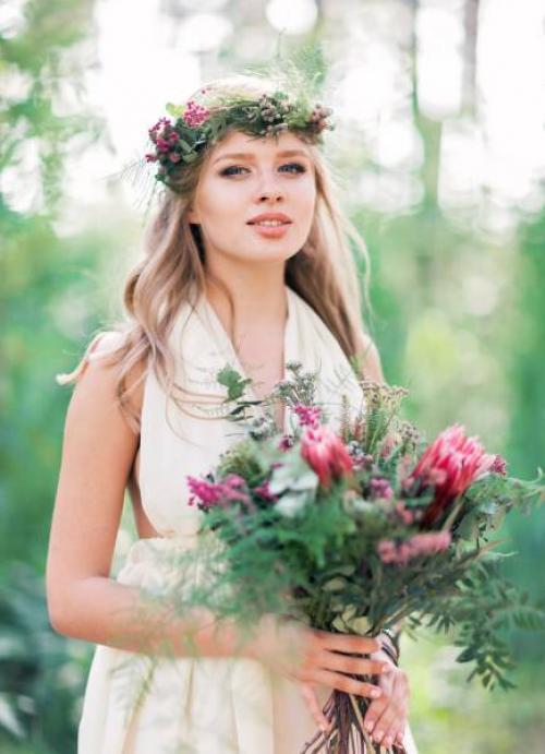 Свадебное в стиле бохо макияж. Идеи макияжа и причесок в стиле бохо