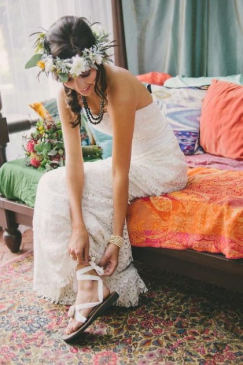 Макияж свадебный в стиле бохо. Образ невесты в стиле бохо