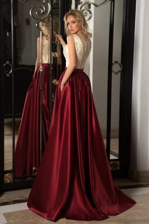 Длинная юбка из атласа. С чем и куда носить атласную юбку?