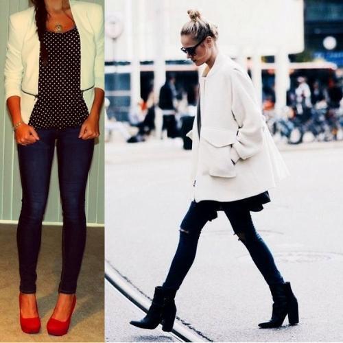 Как украсить белый пиджак. Фото модных моделей женских белых пиджаков