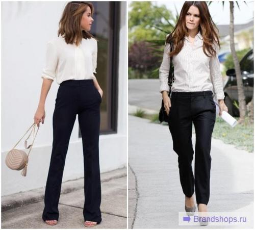 Узкие черные брюки с чем носить. Модные цвета и сочетания