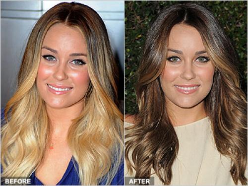 Из блонда в русый: окрашивание волос