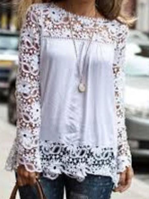 Как своими руками украсить белую рубашку. Оригинальное украшение блузки кружевом 01