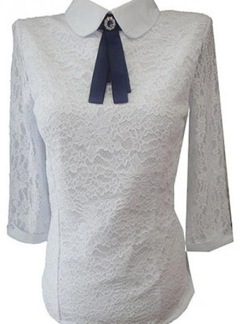 Как своими руками украсить белую рубашку. Оригинальное украшение блузки кружевом 03