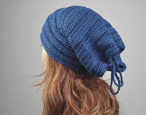 Вязаные шапки для широкого лица. Модные модели