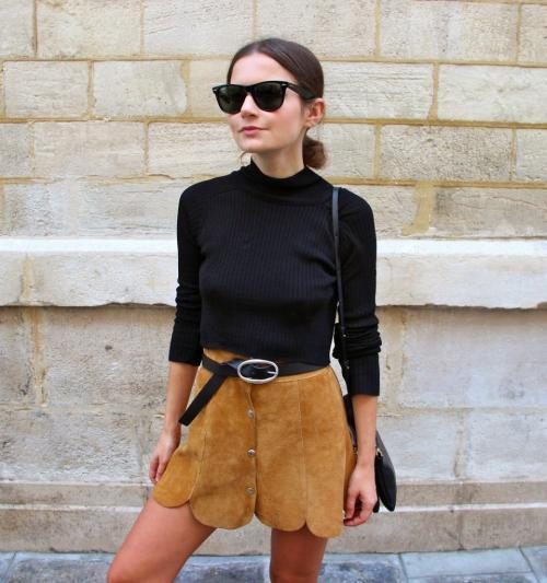 Юбка из замши солнце. Замшевая юбка: с чем носить модели карандаш, солнце и трапеция