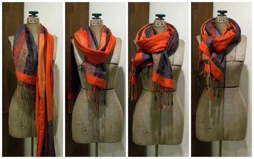 Как красиво завязать на голове теплый шарф. Как завязать красивый палантин- интересные варианты