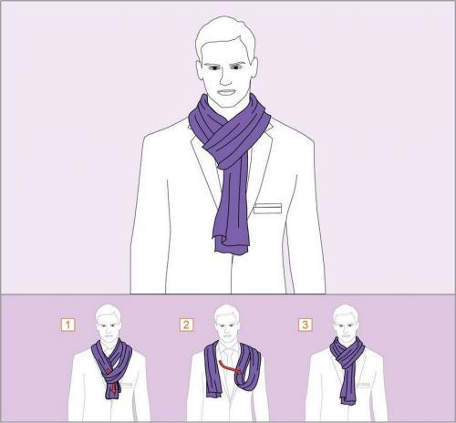 Как завязать теплый шарф на голове. Как завязать шарф на шее?
