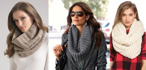 Как красиво завязать шарф хомут на шее. Как правильно носить шарф хомут и как красиво его завязать