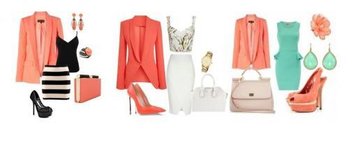 Кому идет коралловое платье. Как сочетать коралловый цвет в одежде?