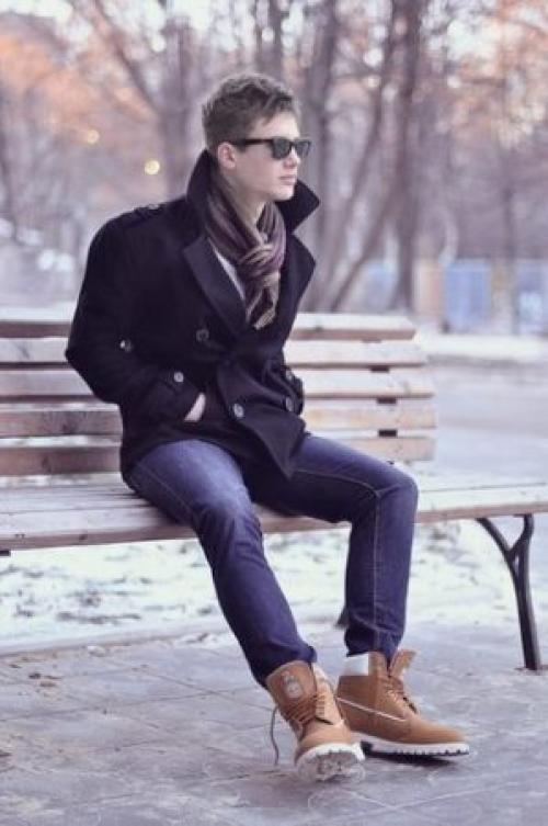 Тимберленды с чем носить мужчинам зимой. Как мужчинам носить тимберленды зимой
