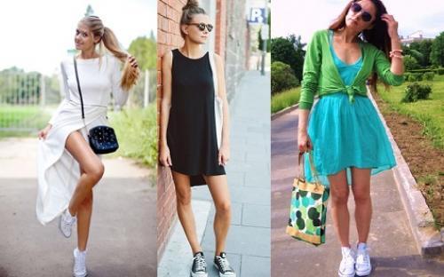 Вечернее платье и кеды. Платье с кедами