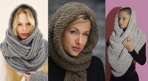 Как красиво завязать на голову шарф зимой. 5 лучших способов завязать шарф на голове