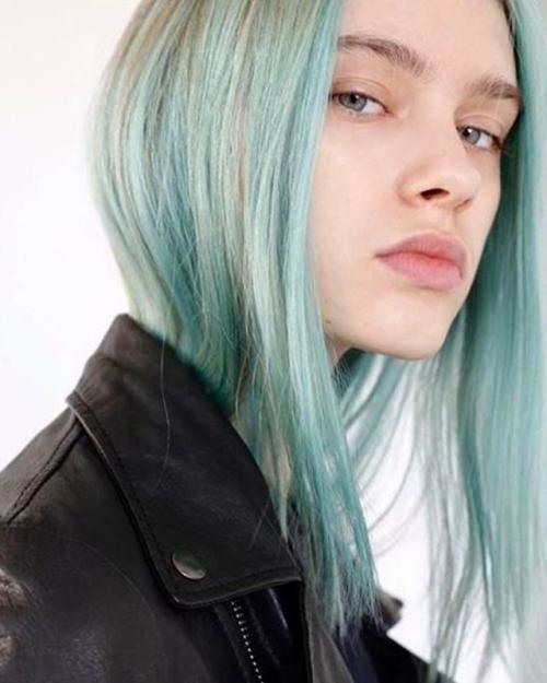 Мятный цвет волос. Модное пастельное окрашивание волос: 8 интересных идей