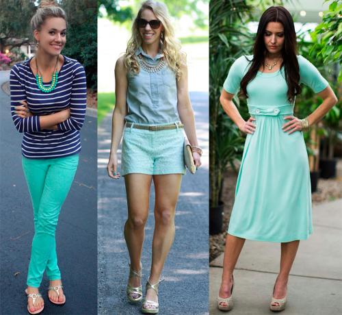 Цвет ментол это, какой цвет. Ментоловый цвет в одежде - модная тенденция 2013 года 10