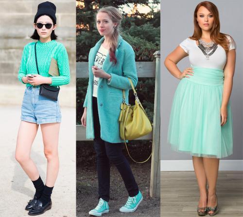 Цвет ментол это, какой цвет. Ментоловый цвет в одежде - модная тенденция 2013 года 09
