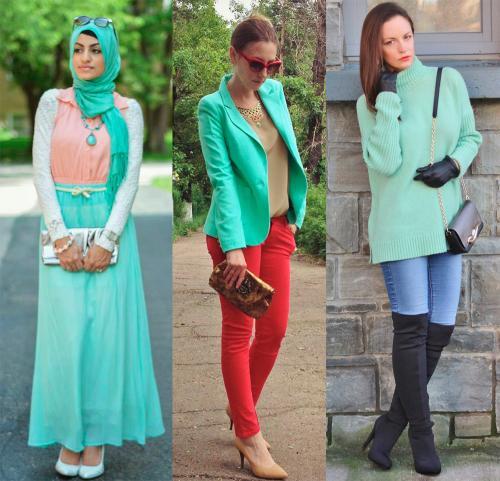 Цвет ментол это, какой цвет. Ментоловый цвет в одежде - модная тенденция 2013 года 05
