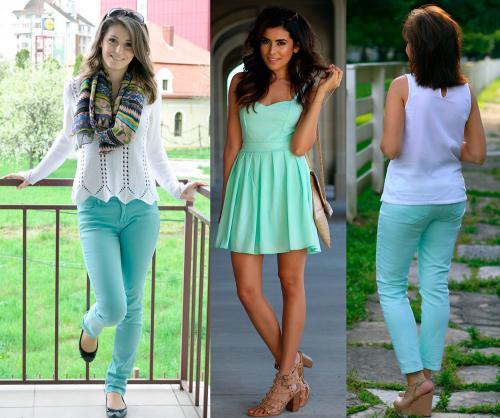 Цвет ментол это, какой цвет. Ментоловый цвет в одежде - модная тенденция 2013 года 06