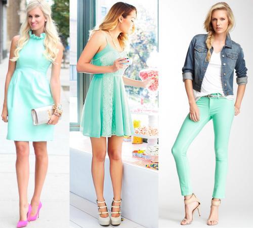 Цвет ментол это, какой цвет. Ментоловый цвет в одежде - модная тенденция 2013 года 04
