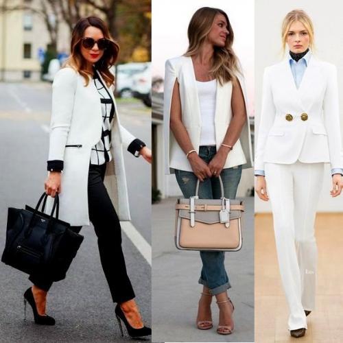 Своими руками украсить пиджак. С чем носить белый женский пиджак: оригинальные идеи на фото