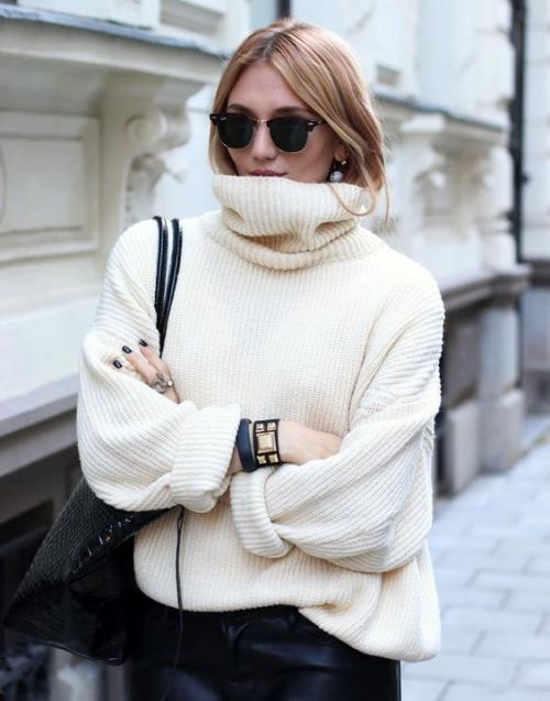 С чем носить куртку оверсайз с широкими рукавами. Стиль oversize: как носить объёмные вещи и выглядеть стройной