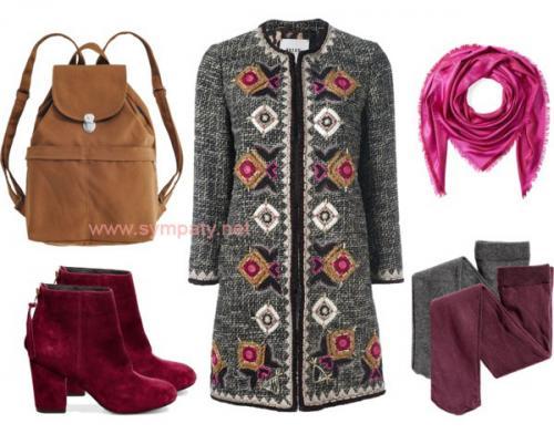 С чем носить розовый рюкзак. С чем носить рюкзак зимой?