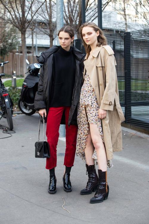 Лук на осень 2020 женский. Уличная мода осень-зима 2019-2020 для женщин