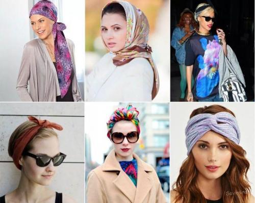 Как одеть шарф на голову. Учимся завязывать платок (шарф) на голове разными способами