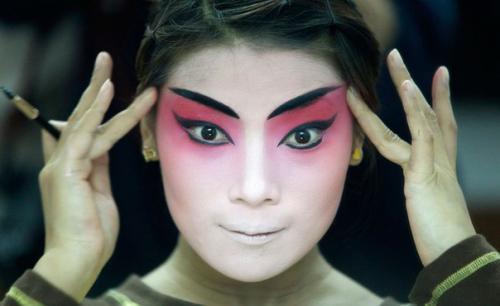 Древний китай прически. История макияжа.  Древний Китай и Япония.