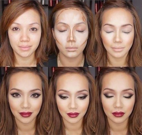 Как визуально уменьшить щеки с помощью макияжа