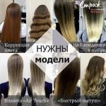 14 и 15 ноября нужны модели для окрашивания волос на семинаре?