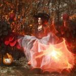 В воскресенье посчастливилось мне участвовать с съемках в стиле хэллоуина.