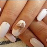 Свадебный дизайн ногтей.