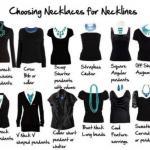 В продолжение темы: сочетания различных вырезов на одежде и украшений.