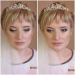 Классический свадебный макияж.