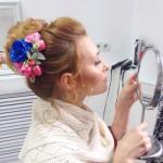 Ретециция причёски и макияжа для невесты Юлии?
