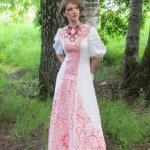 Современные свадебные платья в русском стиле.