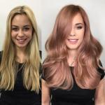Розовый блонд - окрашивание неэкстремальное, вернувшееся в моду совсем недавно.