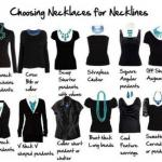 Сочетания различных вырезов на одежде и украшений.